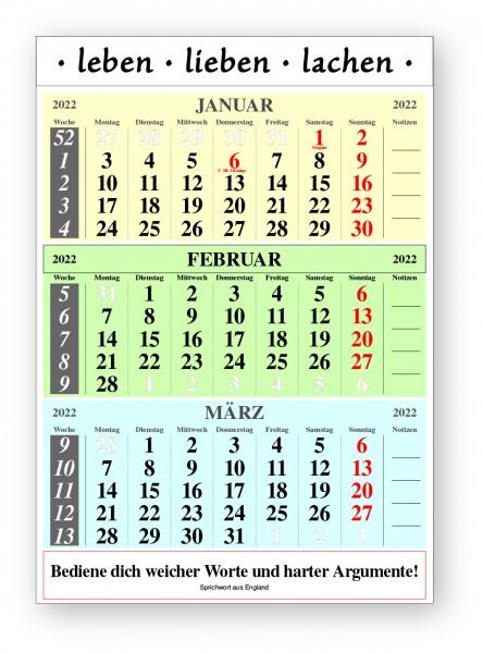 Original-Leitspruch-3-Monats-Kalender 2022