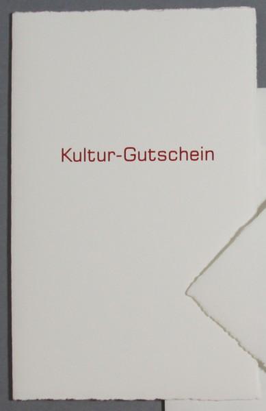 Karte Kultur Gutschein