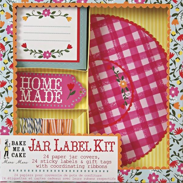 Floral Jar Label Kit