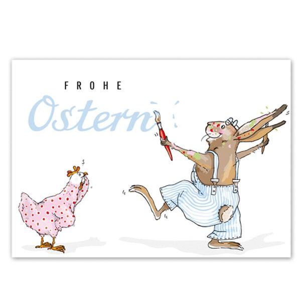 Postkarte Pinselhase
