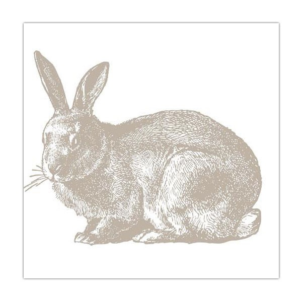 Serviette Hase taupe