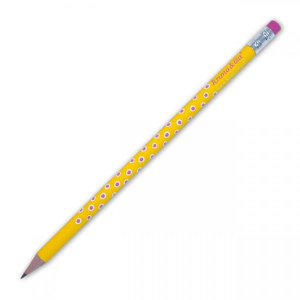 Bleistift Tupfer gelb