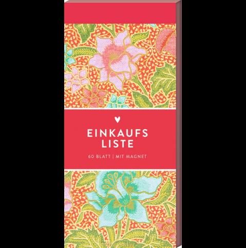 Einkaufsliste Pinke Blumen