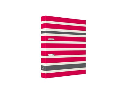 Ordner 7cm Red/Grey Stripes