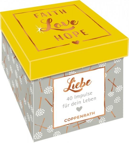 Sprüchebox: Faith, Love, Hope - LIEBE