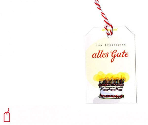 Geschenkanhänger Torte