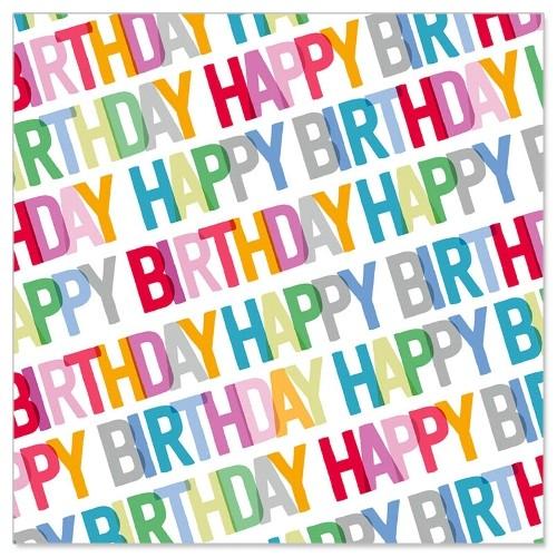 Serviette Birthday