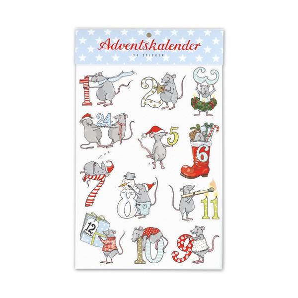 Sticker Adventskalender Mäuse